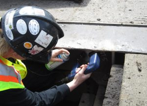 20/20 NDT Magnetic Particle Inspection on Bridge Construction near Grande Cache