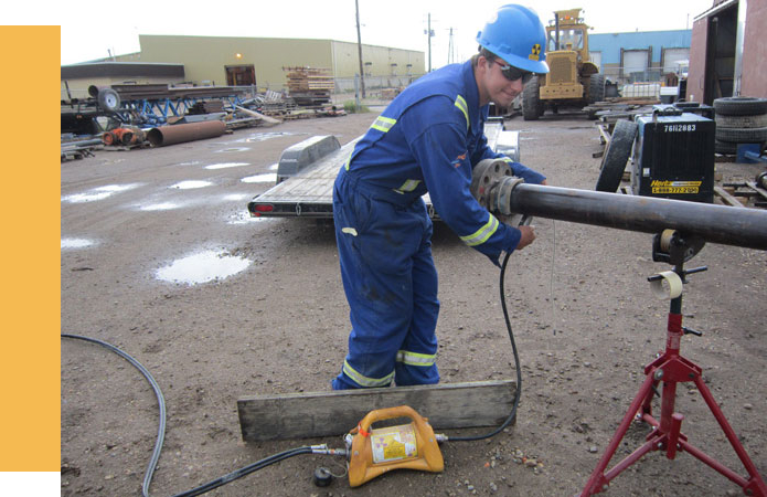 20/20 NDT CEDO Performing Fabrication Inspection at a Fabrication Yard